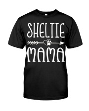 Funny Sheltie Mama Puppy Dog Cute Dog Mom Lo Premium Fit Mens Tee thumbnail
