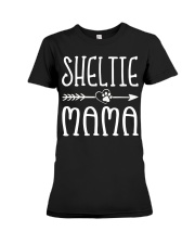 Funny Sheltie Mama Puppy Dog Cute Dog Mom Lo Premium Fit Ladies Tee thumbnail