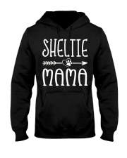 Funny Sheltie Mama Puppy Dog Cute Dog Mom Lo Hooded Sweatshirt thumbnail