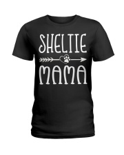 Funny Sheltie Mama Puppy Dog Cute Dog Mom Lo Ladies T-Shirt thumbnail