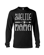 Funny Sheltie Mama Puppy Dog Cute Dog Mom Lo Long Sleeve Tee thumbnail
