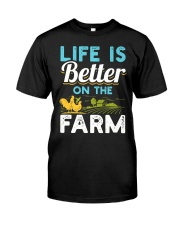 Life Is Better On The Farm Funny  Classic T-Shirt front