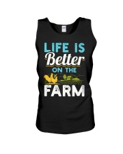 Life Is Better On The Farm Funny  Unisex Tank thumbnail