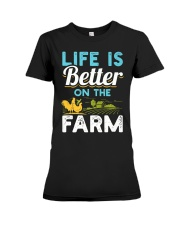 Life Is Better On The Farm Funny  Premium Fit Ladies Tee thumbnail