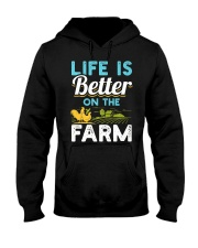 Life Is Better On The Farm Funny  Hooded Sweatshirt thumbnail