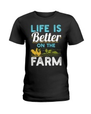 Life Is Better On The Farm Funny  Ladies T-Shirt thumbnail