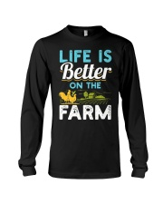 Life Is Better On The Farm Funny  Long Sleeve Tee thumbnail