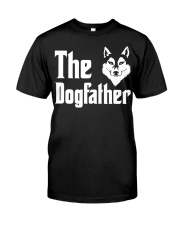 Siberian Husky Tshirt Dogfather Fathers Day  Classic T-Shirt front