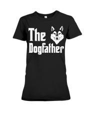 Siberian Husky Tshirt Dogfather Fathers Day  Premium Fit Ladies Tee thumbnail