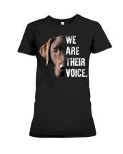Labrador Retriever  We Are Their Voice  Premium Fit Ladies Tee thumbnail