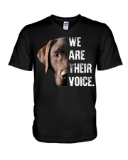 Labrador Retriever  We Are Their Voice  V-Neck T-Shirt thumbnail