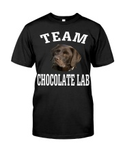Team Chocolate Lab Labrador Retriever Dog Fun Classic T-Shirt front