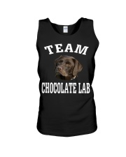 Team Chocolate Lab Labrador Retriever Dog Fun Unisex Tank tile