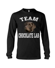 Team Chocolate Lab Labrador Retriever Dog Fun Long Sleeve Tee thumbnail