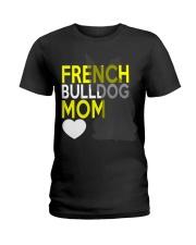French Bulldog Mom Shirt Ladies T-Shirt thumbnail