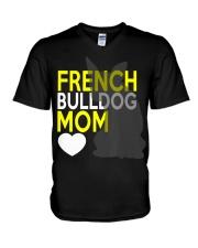 French Bulldog Mom Shirt V-Neck T-Shirt thumbnail