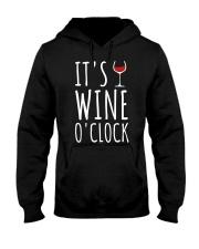 It's Wine O'Clock Wineglass Re Hooded Sweatshirt tile