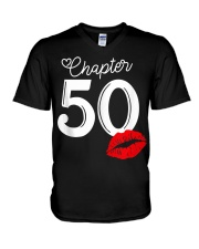 Womens Chapter 50 Years 1970 50th Happy Bi V-Neck T-Shirt thumbnail
