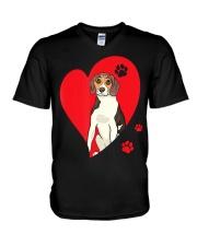Treeing Walker Coonhound Red Heart Valentine V-Neck T-Shirt thumbnail