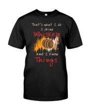 Humorous Alcohol T-shirt I Drink Whisk Classic T-Shirt front