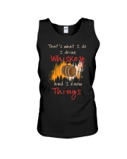 Humorous Alcohol T-shirt I Drink Whisk Unisex Tank thumbnail