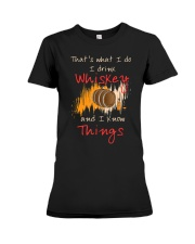 Humorous Alcohol T-shirt I Drink Whisk Premium Fit Ladies Tee thumbnail