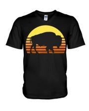 Native American Bison Buffa V-Neck T-Shirt thumbnail