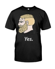 Chad Yes Meme Internet Funny Nordic Alpha Ki Classic T-Shirt front