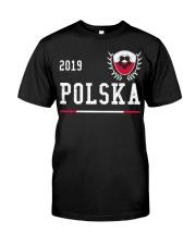 Poland Football Jersey 2019 Polish Soccer  Classic T-Shirt front