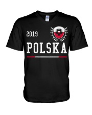 Poland Football Jersey 2019 Polish Soccer  V-Neck T-Shirt thumbnail