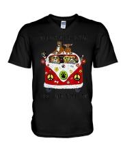 On A Dark Desert Highway Dog Feel Coo V-Neck T-Shirt thumbnail