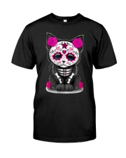 Sugar Skull Cat T shirt Day Of The  Classic T-Shirt front
