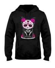 Sugar Skull Cat T shirt Day Of The  Hooded Sweatshirt thumbnail