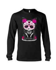 Sugar Skull Cat T shirt Day Of The  Long Sleeve Tee thumbnail