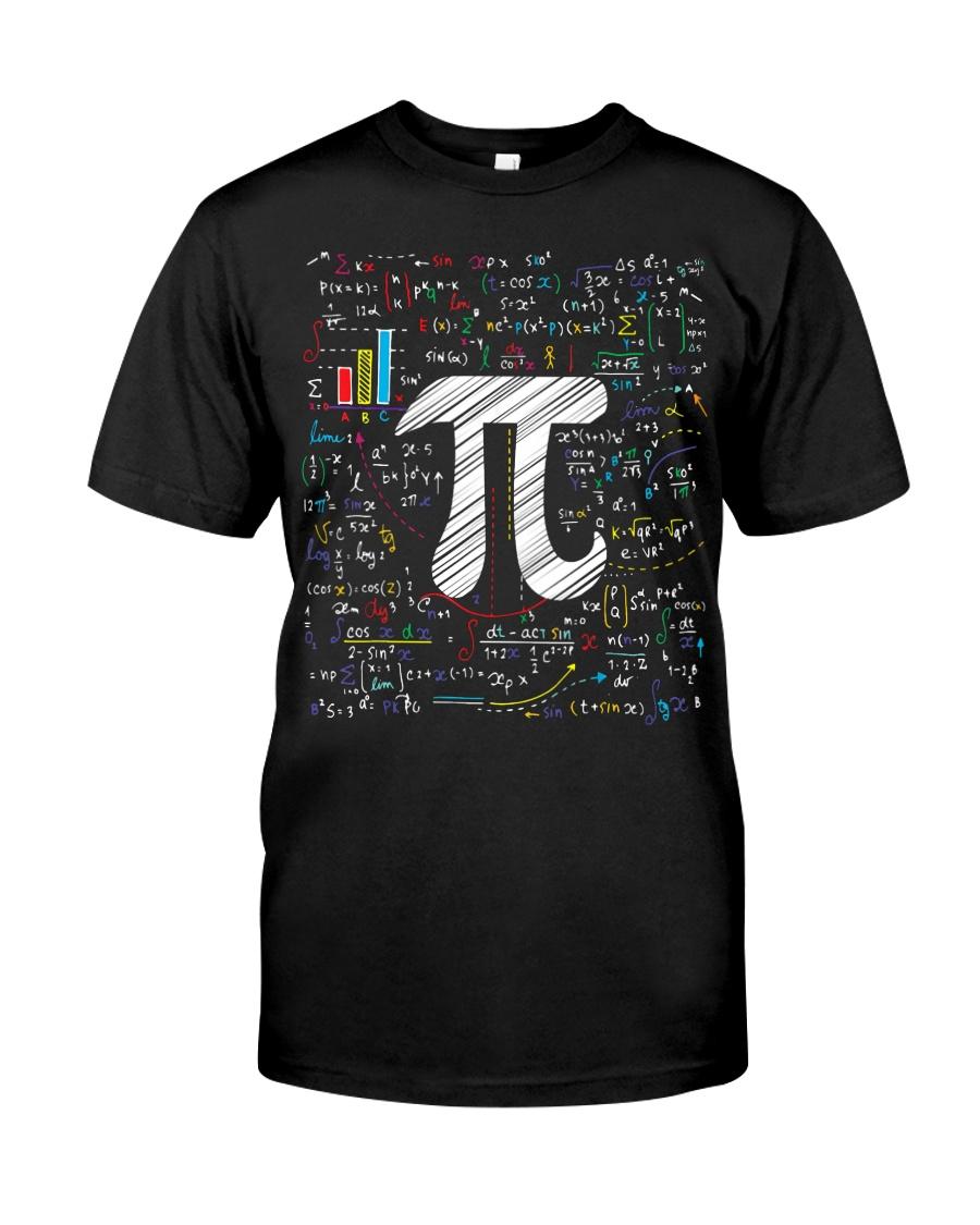 Pi Day Math Equation T-Shirt Math Teacher Stu Classic T-Shirt