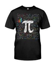 Pi Day Math Equation T-Shirt Math Teacher Stu Classic T-Shirt front