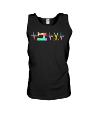 Quilter Sewing Heartbeat For Q Unisex Tank thumbnail