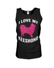 i love my Keeshond - Cute Funny Dog Mom m Unisex Tank tile