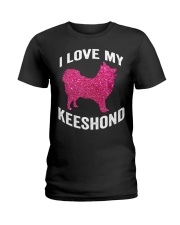 i love my Keeshond - Cute Funny Dog Mom m Ladies T-Shirt tile