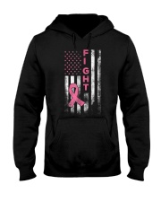 Breast Cancer Awareness T-Shirt Fight American Fla Hooded Sweatshirt thumbnail