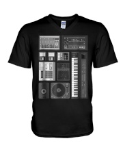 Old School Hip Hop Rap Music Bea V-Neck T-Shirt thumbnail