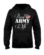 Army Wife Shirt - Proud Army Wife T Shirt Hooded Sweatshirt thumbnail
