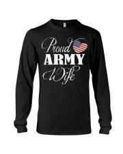 Army Wife Shirt - Proud Army Wife T Shirt Long Sleeve Tee thumbnail
