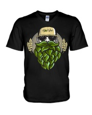 Hop Beard F V-Neck T-Shirt tile