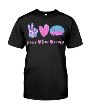 Peace Love Camp Cute Camping Lover Gifts For  Classic T-Shirt front