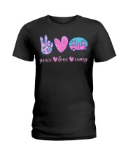 Peace Love Camp Cute Camping Lover Gifts For  Ladies T-Shirt thumbnail