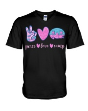 Peace Love Camp Cute Camping Lover Gifts For  V-Neck T-Shirt tile