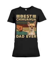 Best Chihuahua vintage dad ever T-Shirt Premium Fit Ladies Tee thumbnail