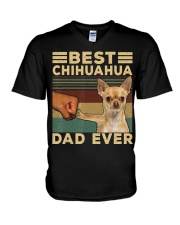 Best Chihuahua vintage dad ever T-Shirt V-Neck T-Shirt thumbnail