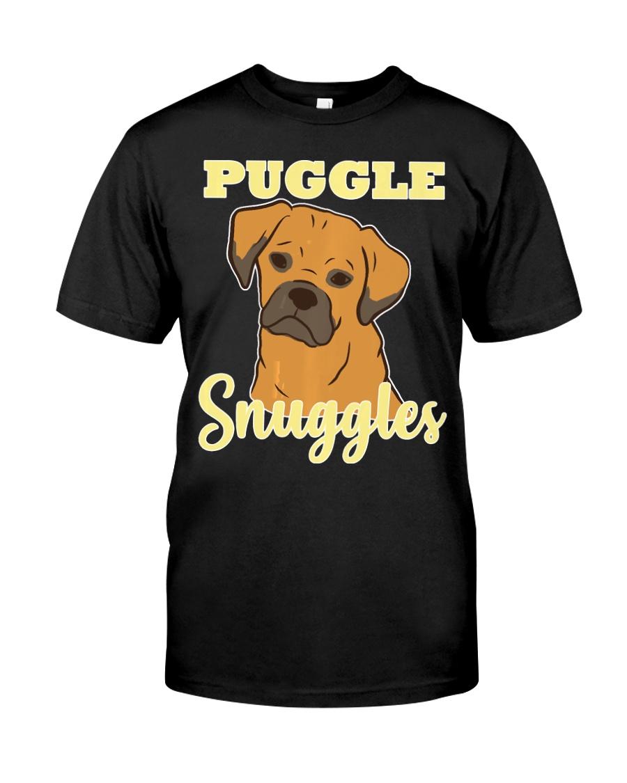 Puggle Pug Beagle Dog Snuggles Funny Cute  Classic T-Shirt
